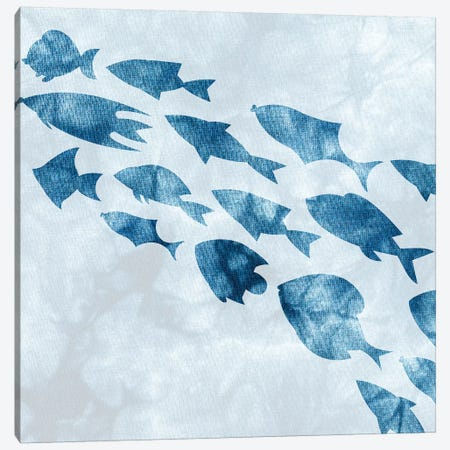 School of Fish II Canvas Print #KAL272} by Kimberly Allen Canvas Print