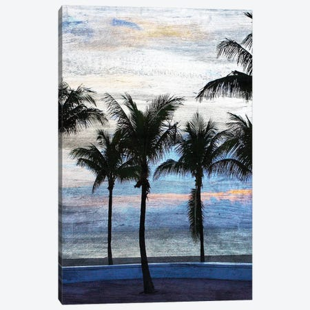 Sunset at the Beach I Canvas Print #KAL278} by Kimberly Allen Canvas Art Print