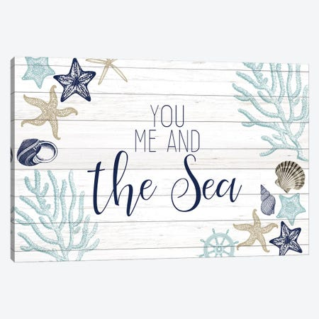 You Me and the Sea Canvas Print #KAL292} by Kimberly Allen Art Print