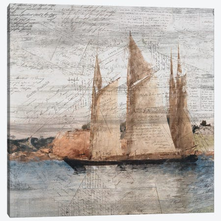 Sailing I Canvas Print #KAL29} by Kimberly Allen Canvas Print