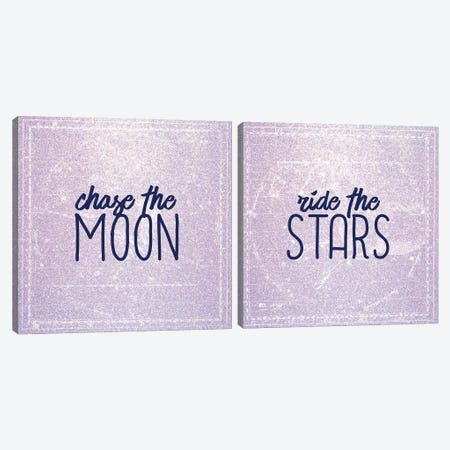 Chase the Moon Canvas Print Set #KAL2HSET003} by Kimberly Allen Canvas Print