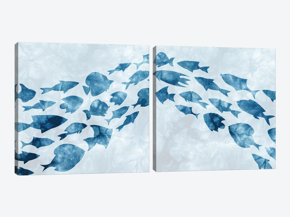 School of Fish Diptych by Kimberly Allen 2-piece Canvas Art Print