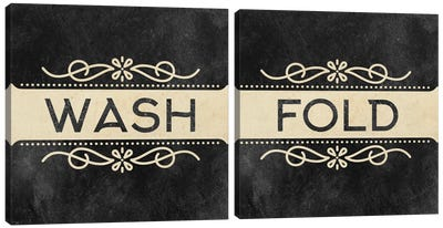 Wash Dry Fold Diptych Canvas Art Print