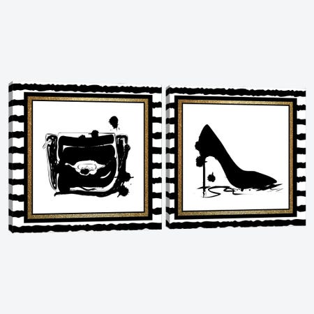 Love Fashion Diptych II Canvas Print Set #KAL2HSET010} by Kimberly Allen Canvas Artwork