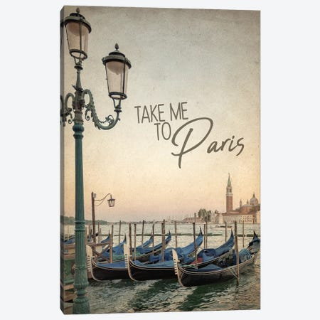Gondola Paris I Canvas Print #KAL303} by Kimberly Allen Canvas Art Print