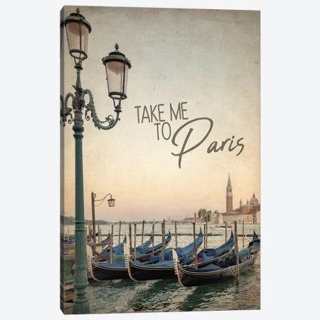 Gondola Paris I Canvas Print #KAL303} by Kimberly Allen Canvas Art Print