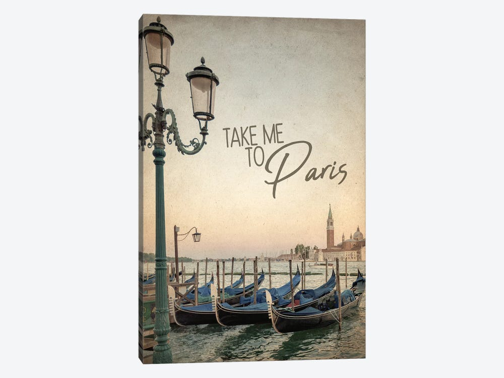 Gondola Paris I by Kimberly Allen 1-piece Canvas Artwork