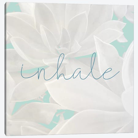 Inhale Canvas Print #KAL306} by Kimberly Allen Canvas Artwork