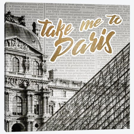Love Paris 1 Canvas Print #KAL307} by Kimberly Allen Canvas Artwork