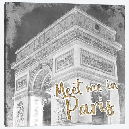 Meet Me in Paris 1 Canvas Print #KAL309} by Kimberly Allen Canvas Print