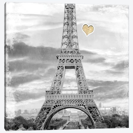 Meet Me in Paris 2 Canvas Print #KAL310} by Kimberly Allen Canvas Art