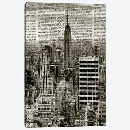 Newspaper City 1 Canvas Print #KAL313} by Kimberly Allen Canvas Wall Art