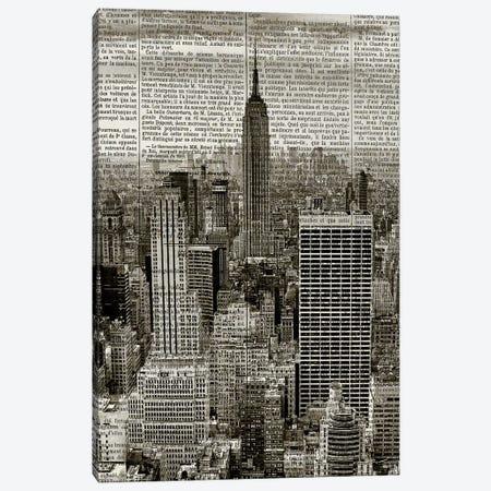Newspaper City 1 Canvas Print #KAL313} by Kimberly Allen Canvas Wall Art