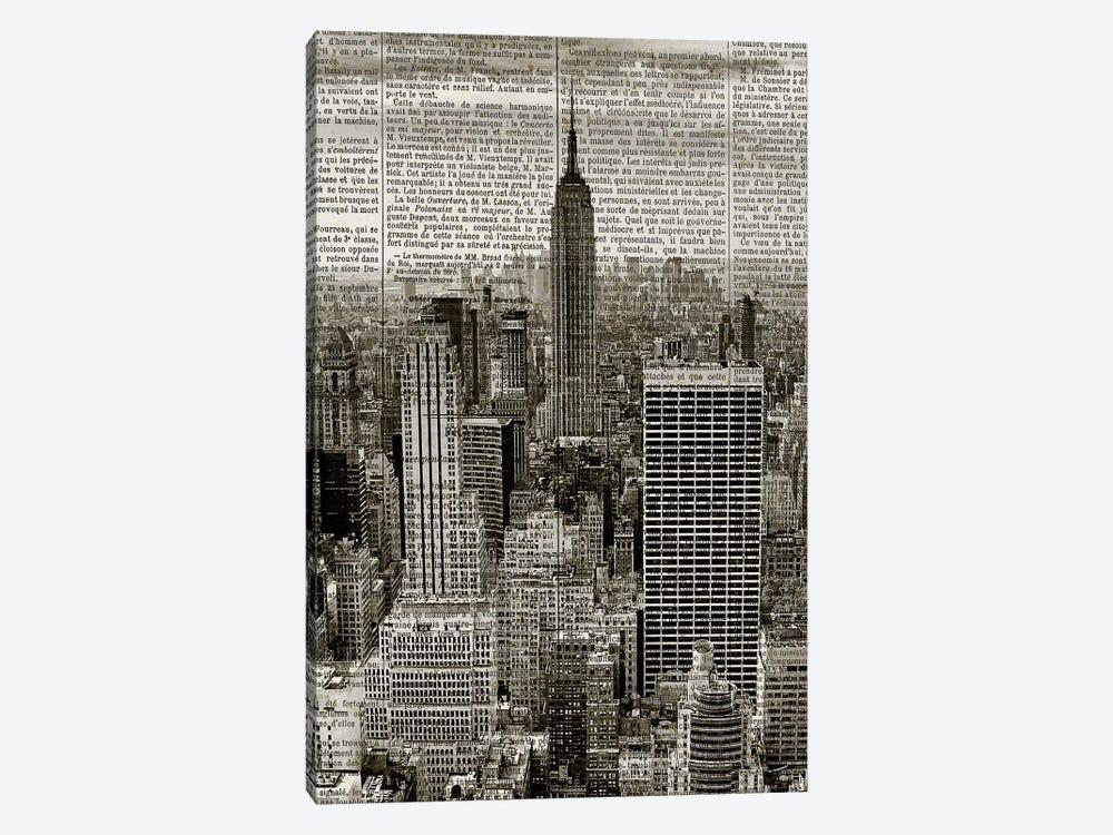 Newspaper City 1 by Kimberly Allen 1-piece Art Print