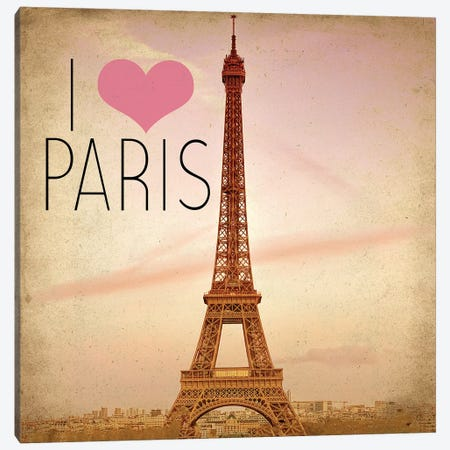 Paris Bicycle 1 Canvas Print #KAL316} by Kimberly Allen Art Print