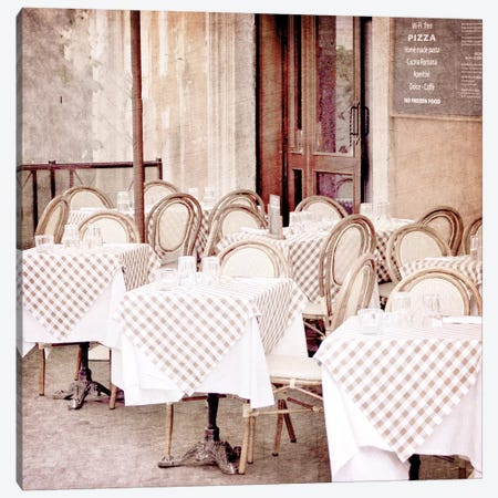 Paris Bistro I Canvas Print #KAL319} by Kimberly Allen Canvas Wall Art