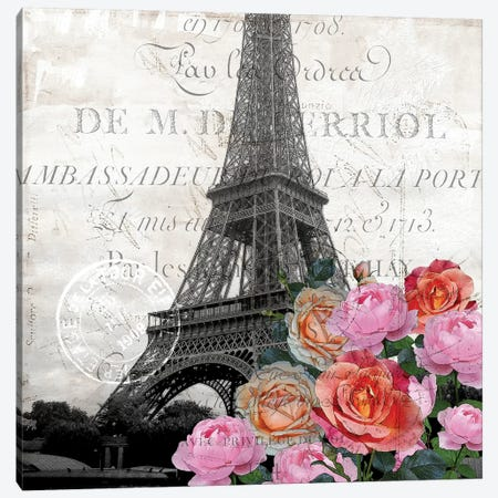Paris Blooms 1 Canvas Print #KAL322} by Kimberly Allen Canvas Art Print
