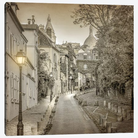 Streets of Paris 1 Canvas Print #KAL342} by Kimberly Allen Canvas Print