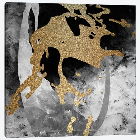 Gold Splash II Canvas Print #KAL357} by Kimberly Allen Canvas Art Print