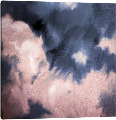Navy Pink Passion Canvas Art Print