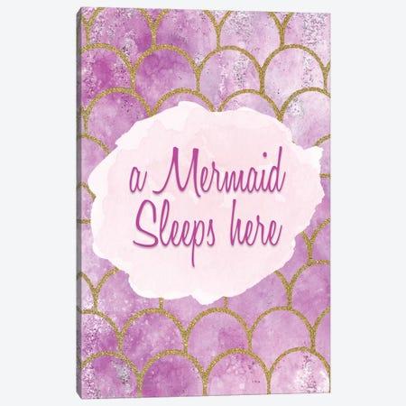 A Mermaid Sleeps Here 3-Piece Canvas #KAL363} by Kimberly Allen Canvas Print