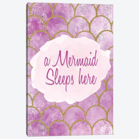 A Mermaid Sleeps Here Canvas Print #KAL363} by Kimberly Allen Canvas Print