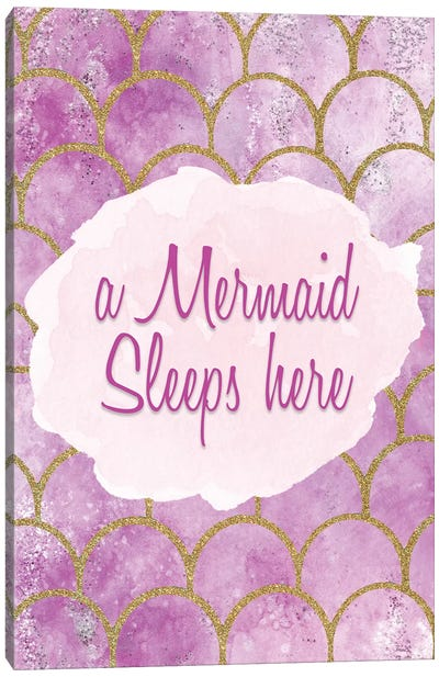 A Mermaid Sleeps Here Canvas Art Print