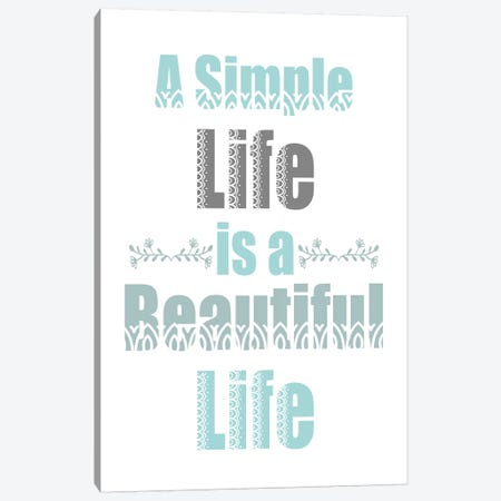 A Simple Life Canvas Print #KAL364} by Kimberly Allen Canvas Artwork