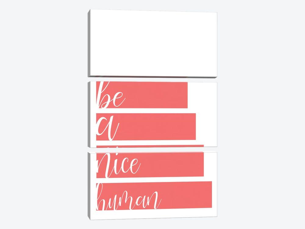 Be A Nice by Kimberly Allen 3-piece Art Print