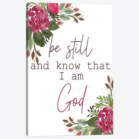 Be Still and Know Canvas Print #KAL378} by Kimberly Allen Canvas Artwork