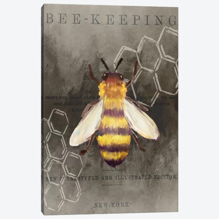 Bee Charmer I Canvas Print #KAL379} by Kimberly Allen Canvas Wall Art