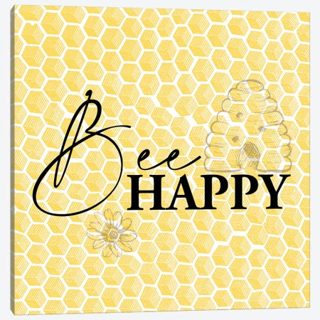 Bee I Canvas Print #KAL381} by Kimberly Allen Canvas Print