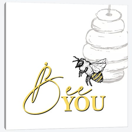 Bee II Canvas Print #KAL382} by Kimberly Allen Canvas Art Print