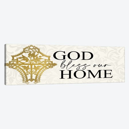 Bless Our Home Canvas Print #KAL385} by Kimberly Allen Canvas Artwork