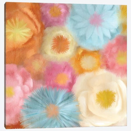 Cluster Of Blooms I Canvas Print #KAL38} by Kimberly Allen Canvas Art