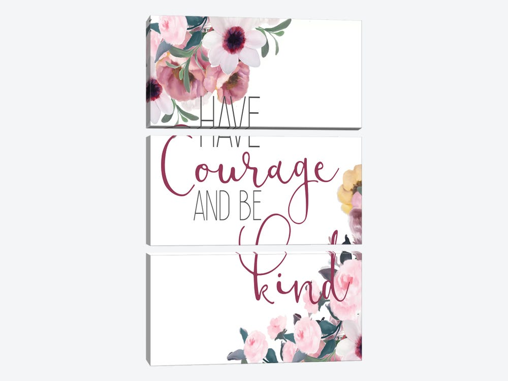 Courage and Truth I by Kimberly Allen 3-piece Canvas Wall Art