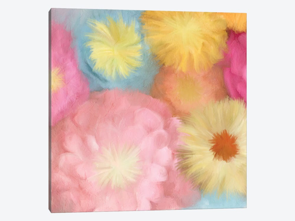 Cluster Of Blooms II by Kimberly Allen 1-piece Canvas Artwork