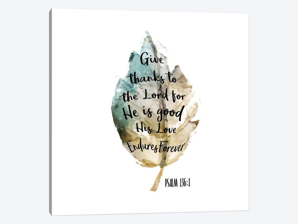 Psalm Leaf III by Kimberly Allen 1-piece Canvas Art