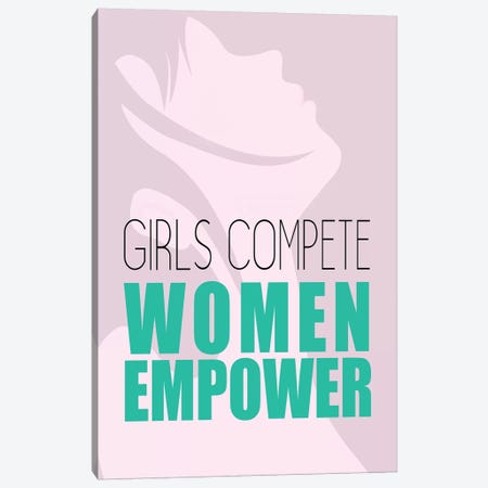 Girls Compete Canvas Print #KAL408} by Kimberly Allen Canvas Art