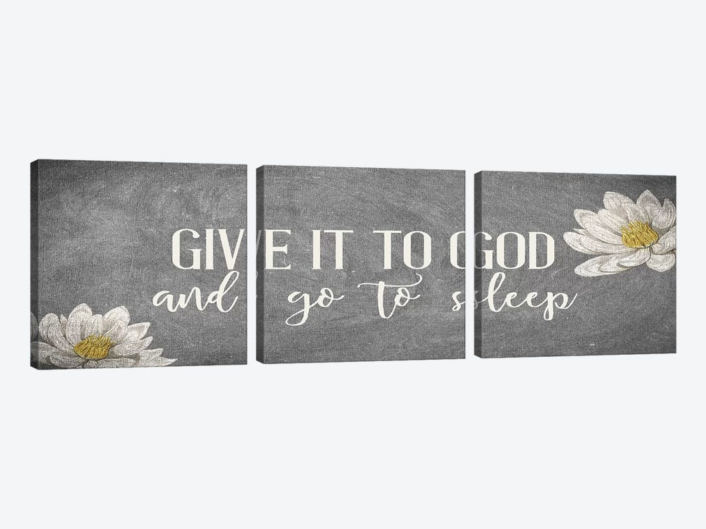 Give It II by Kimberly Allen 3-piece Canvas Print