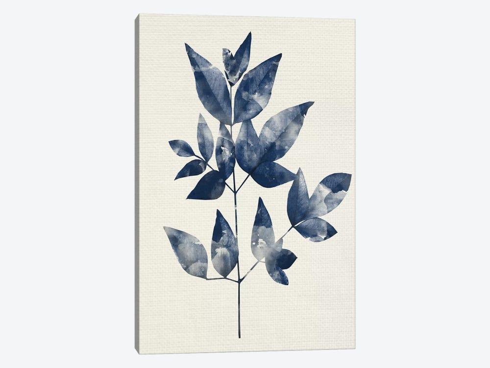 Indigo Leaves II by Kimberly Allen 1-piece Canvas Print