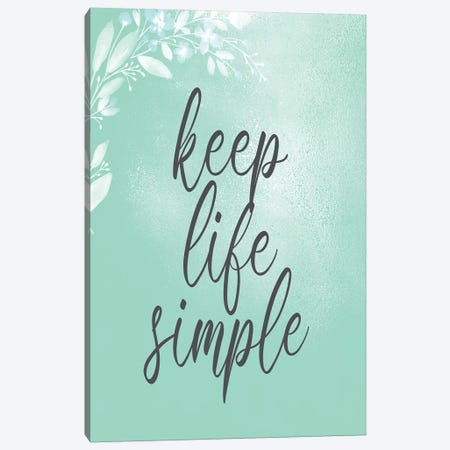 Keep Life Simple 3-Piece Canvas #KAL420} by Kimberly Allen Canvas Art