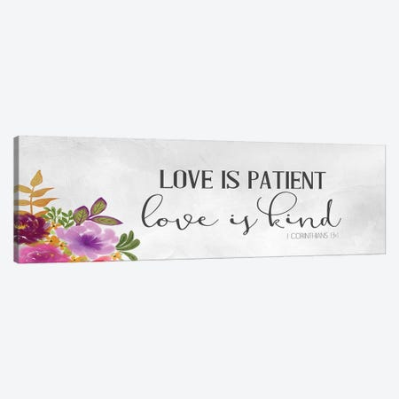 Love Is 3-Piece Canvas #KAL430} by Kimberly Allen Canvas Print