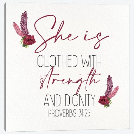 She Is Clothed Canvas Print #KAL448} by Kimberly Allen Canvas Art