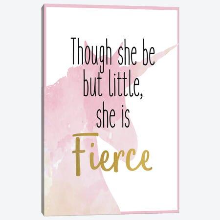 She Is Fierce I Unicorn Canvas Print #KAL451} by Kimberly Allen Art Print