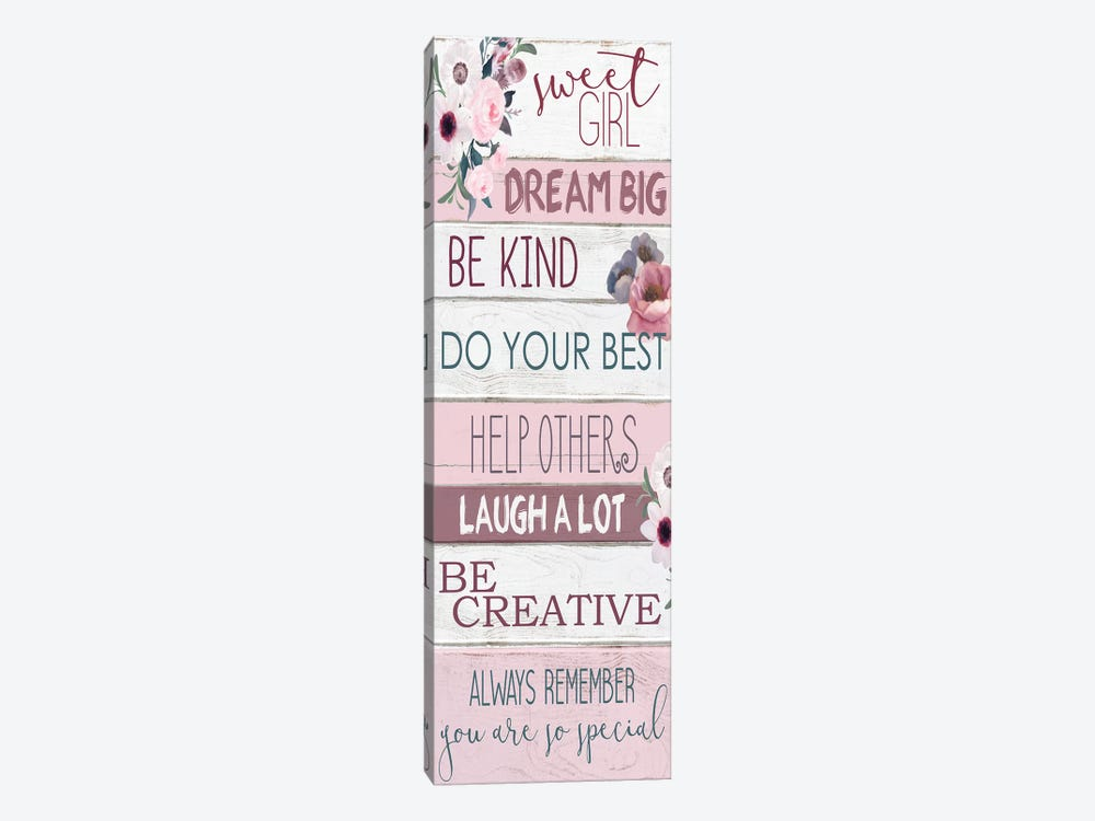 Sweet Girl by Kimberly Allen 1-piece Canvas Print