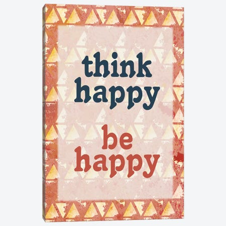 Think Happy Canvas Print #KAL462} by Kimberly Allen Canvas Wall Art
