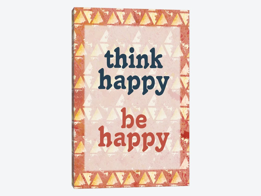 Think Happy by Kimberly Allen 1-piece Canvas Wall Art