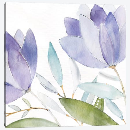Purple Spring I Canvas Print #KAL46} by Kimberly Allen Canvas Artwork
