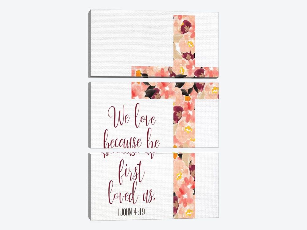 We Love by Kimberly Allen 3-piece Art Print